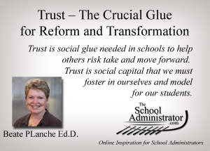 Trust – The Crucial Glue for Reform and Transformation – Beate PLanche