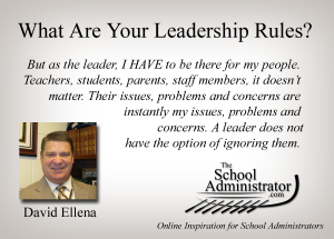 What Are Your Leadership Rules? – David Ellena