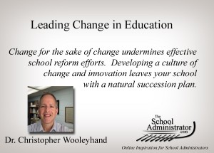 Leading Change in Education – Chris Wooleyhand