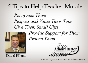 5 Tips to Help Teacher Morale – David Ellena