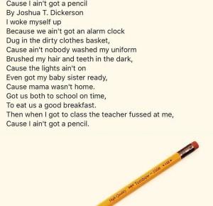 pencil-poem
